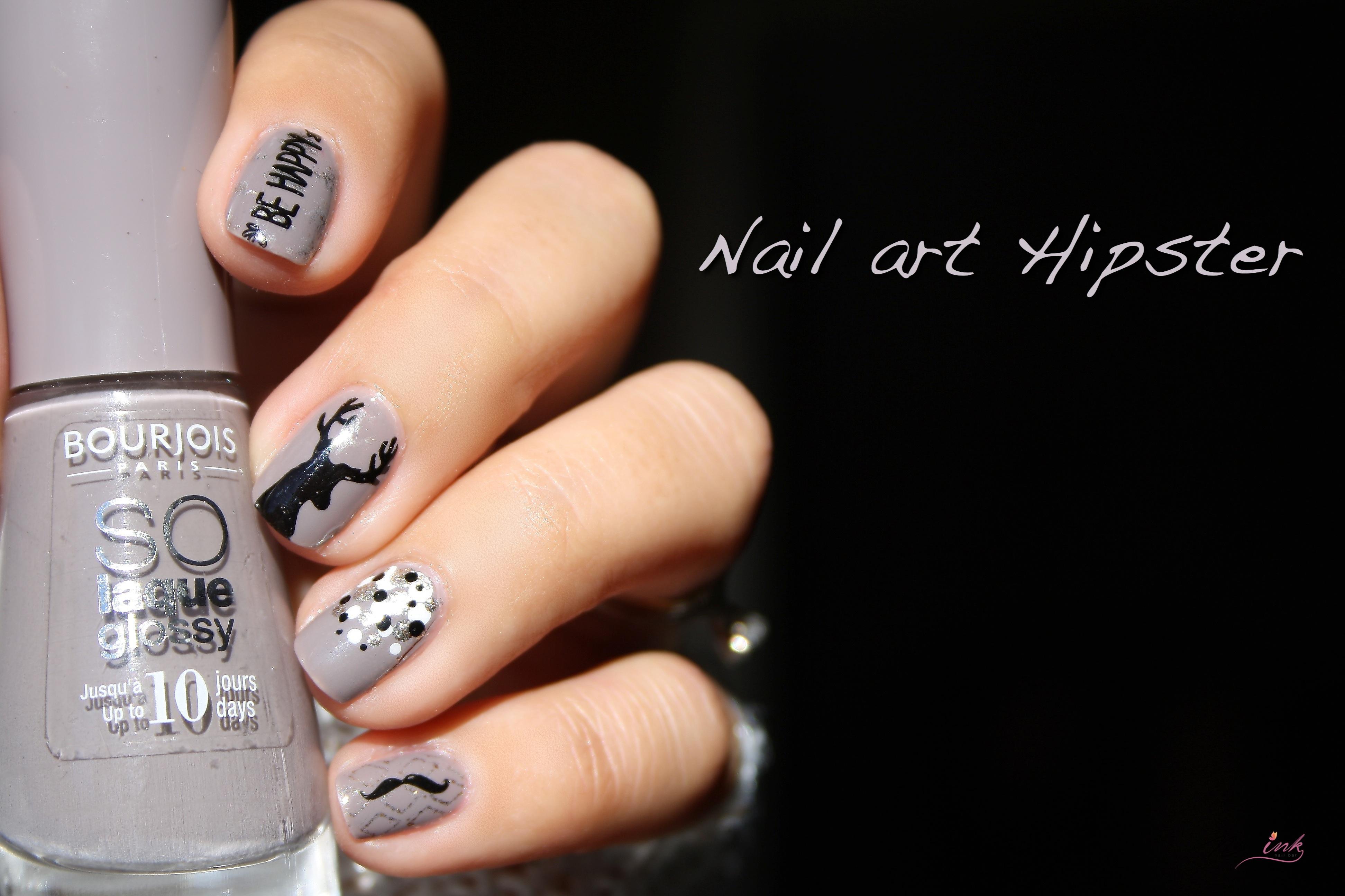 Nail art hipster nail art by nails ink ce matin javais envie de tons cocooning tout doux et pour a il ny a pas mieux que les tons taupe pour faire ce nail art prinsesfo Images